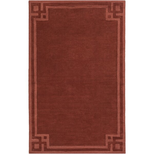 Peever Hand-Loomed Rust Area Rug by Charlton Home