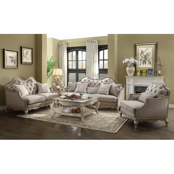 Adalgar 3 Piece Living Room Set by One Allium Way