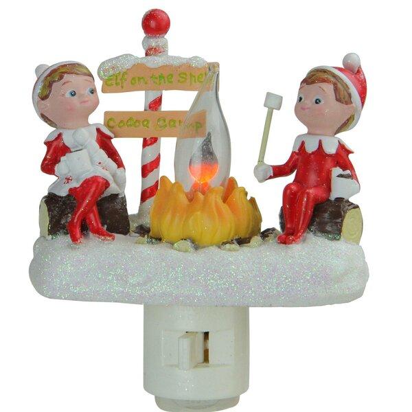 4.5 Elf on the Shelf North Pole Elf Campfire Site Flickering Christmas Night Light by Northlight Seasonal