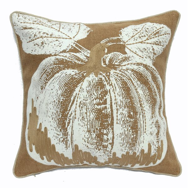 Pumpkin Printed Throw Pillow by 14 Karat Home Inc.
