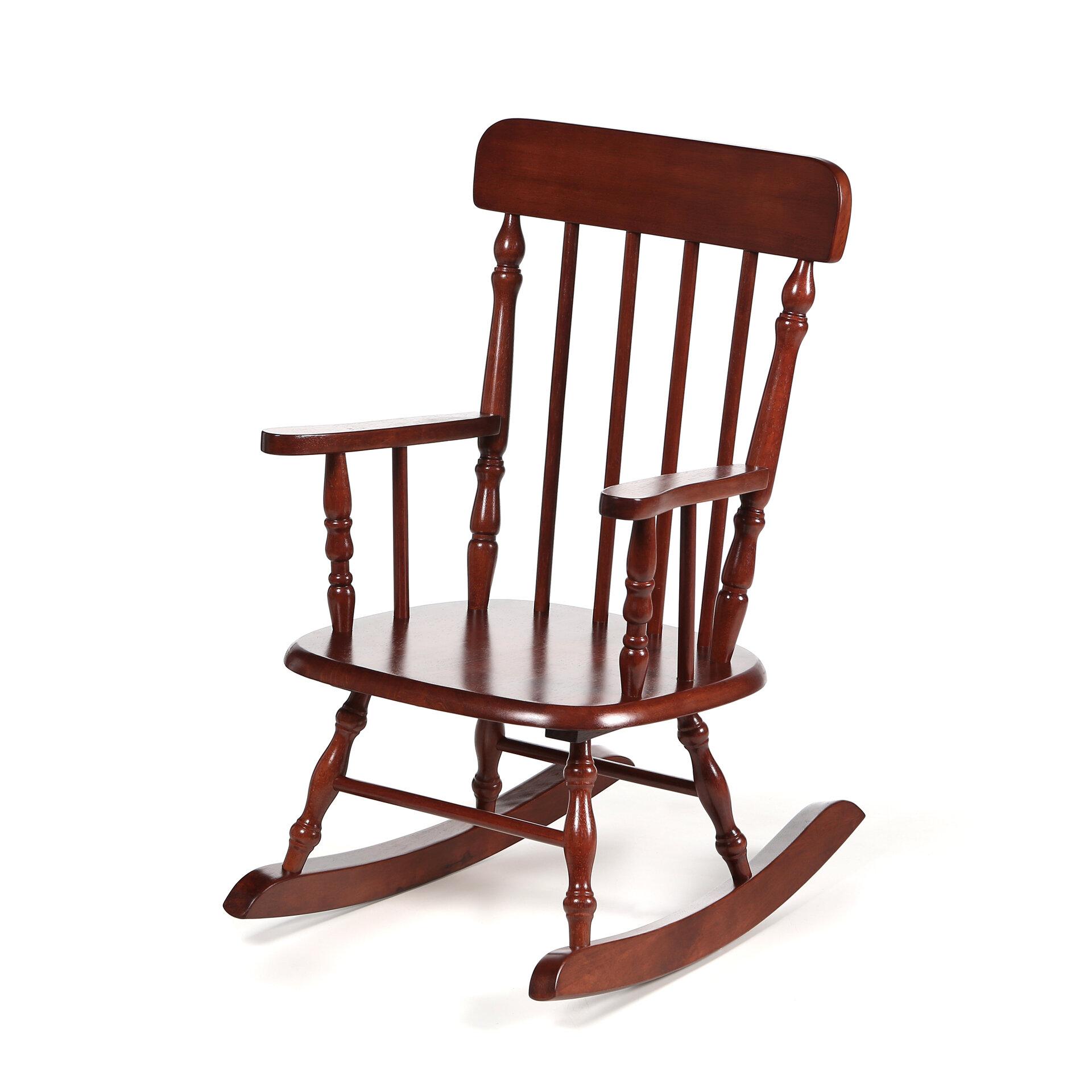 Harriet Bee Barksdale Spindle Kids Rocking Chair U0026 Reviews | Wayfair