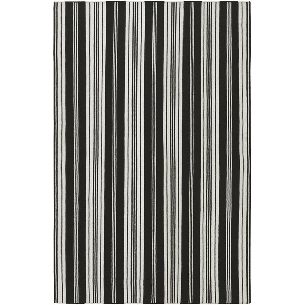 Farmhouse Stripes Hand-Woven Black/Gray Area Rug by Country Living™ by Surya