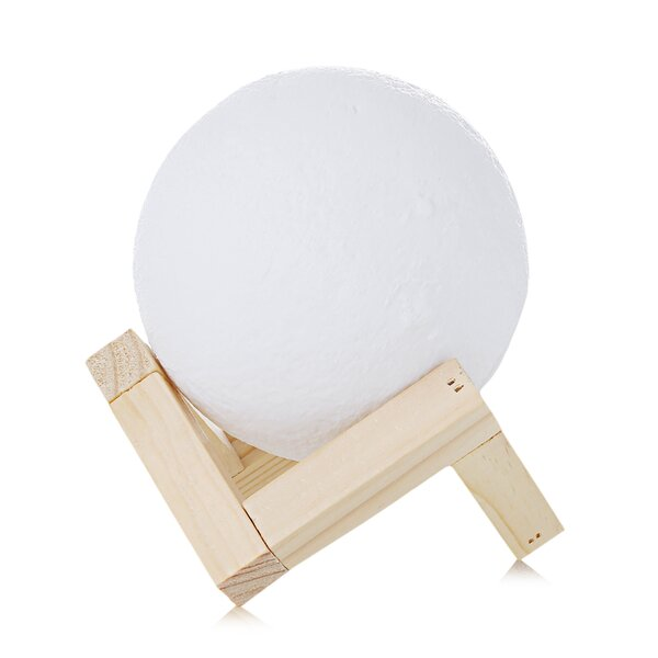 Rechargeable 3D Print Moon Lamp Touch Switch Night Light by LANGRIA