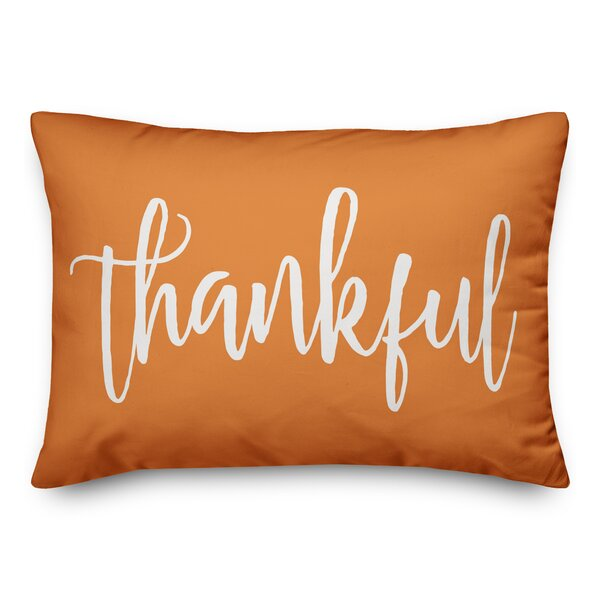 Rigby Thankful and Blessed Lumbar Pillow by The Holiday Aisle