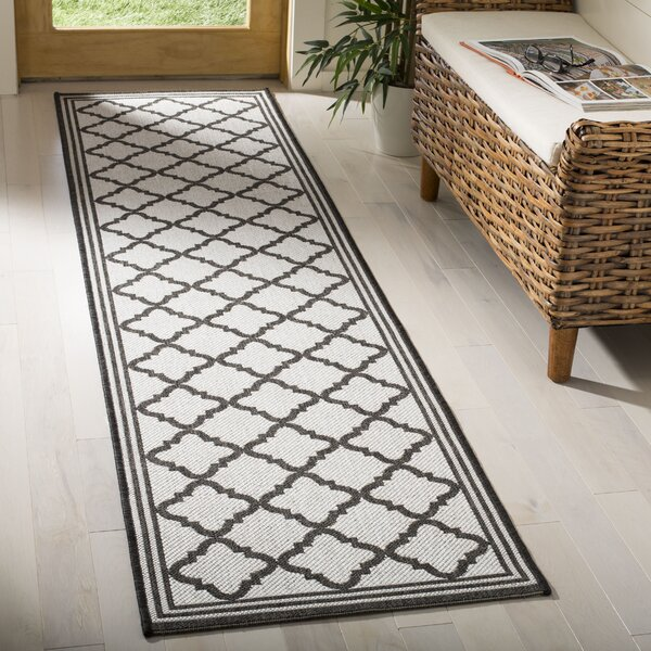 Burnell Contemporary Light Gray Area Rug by Darby Home Co