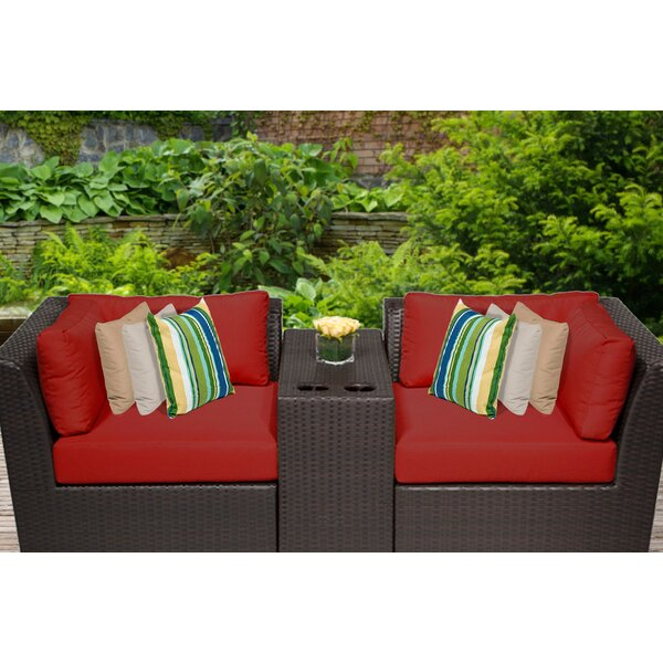 Tegan 3 Piece Seating Group with Cushions by Sol 72 Outdoor