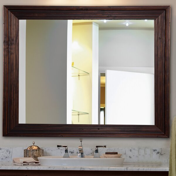 Handcrafted Dark Brown Wall Mirror by Darby Home Co
