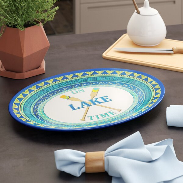 Asuncion On Lake Time Melamine Oval Platter by Loon Peak