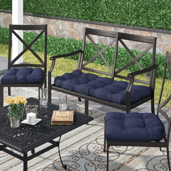 3 Piece Indoor/Outdoor Bench and Dining Chair Cush