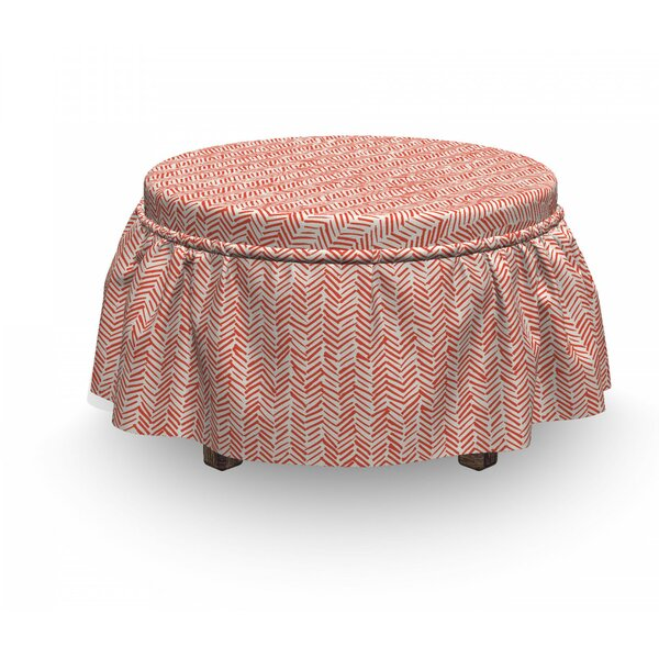 Smear Lines Grunge Ottoman Slipcover (Set Of 2) By East Urban Home