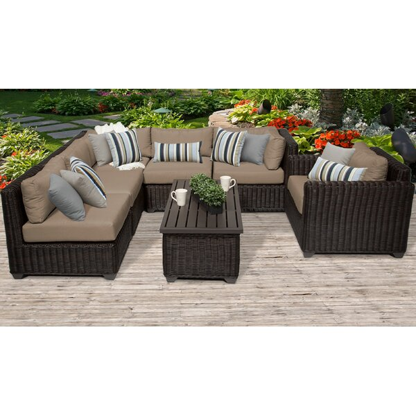 Mejia 7 Piece Sectional Seating Group with Cushions by Rosecliff Heights