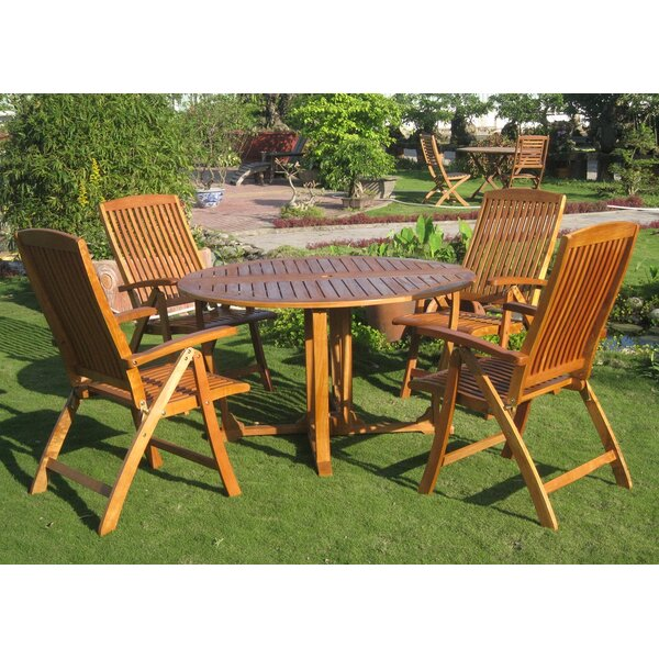 Sabbattus Teruel 5 Piece Dining Set by Breakwater Bay