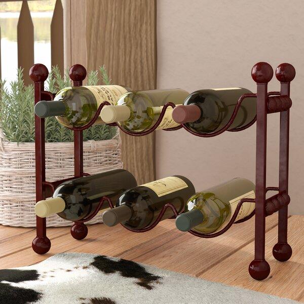 Cercis Horizontal 6 Bottle Floor Wine Rack by Loon Peak