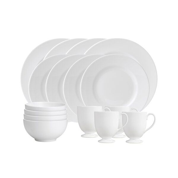 16 Piece Bone China Dinnerware Set, Service for 4