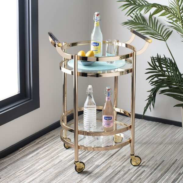 Hendrum Bar Cart by Wrought Studio Wrought Studio