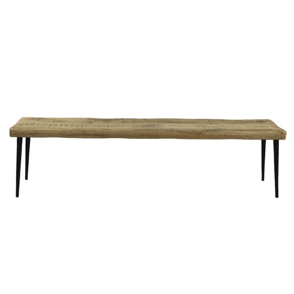 Leday Solid Wood Bench by Union Rustic Union Rustic