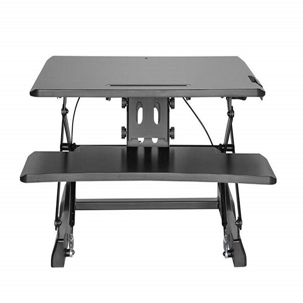 Celestia Scissor Gas Lift Sit and Stand Workstation Height Adjustable Standing Desk by Symple Stuff