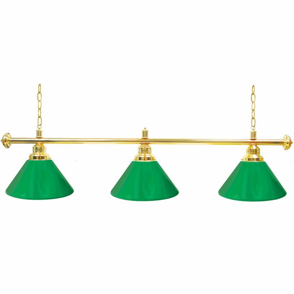 Premium 3-Light Pool Table Lights Pendant by Trademark Global
