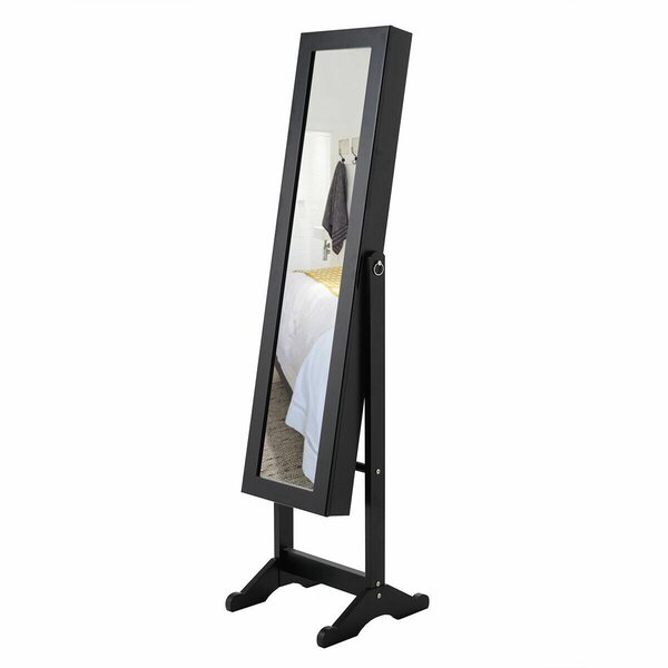 Berglund Free Standing Jewelry Armoire With Mirror By Charlton Home