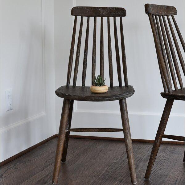 Burketown Solid Wood Dining Chair (Set of 2) by Loon Peak