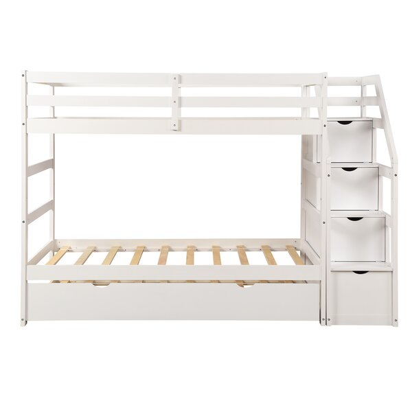 Lightsey Twin Over twin Bunk Bed With Trundle & Drawers by Harriet Bee