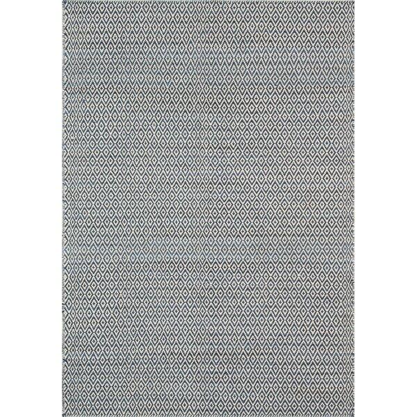 Brooklington Handwoven  Flatweave Wool Blue Area Rug by Bungalow Rose