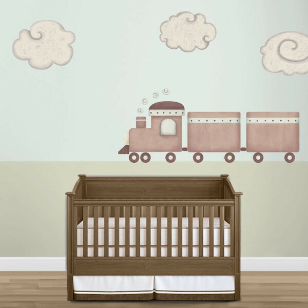 Train and Cloud Wall Stickers by My Wonderful Walls