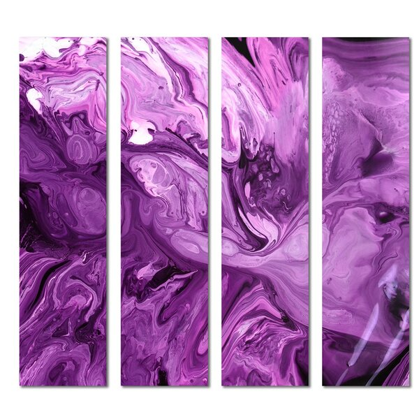 Custom 3 x 12 Beveled Glass Subway Tile in Purple by Upscale Designs by EMA