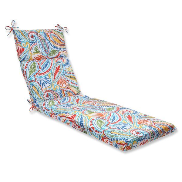 Toshia Indoor/Outdoor Chaise Lounge Cushion