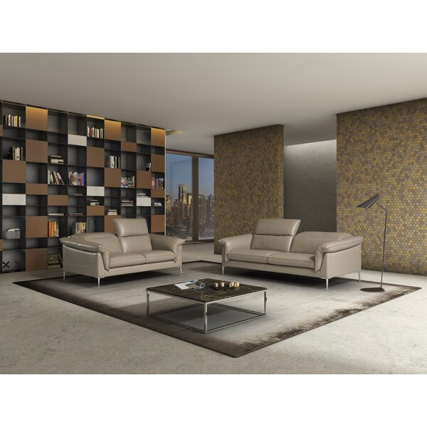 Blum Leather Configurable Living Room Set by Orren Ellis