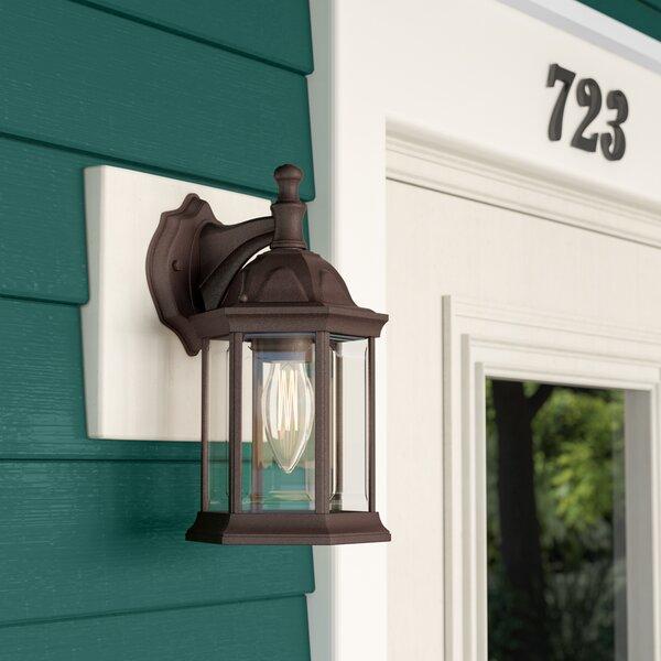 Elburn 1-Light Outdoor Wall Lantern by Three Posts