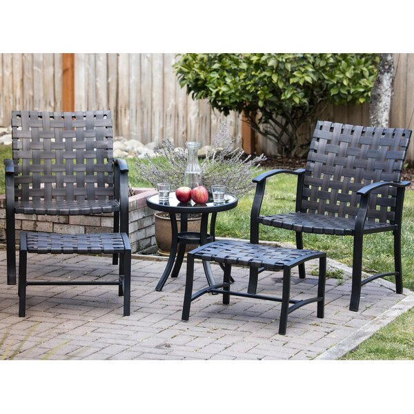 Griffing Outdoor Patio 5 Piece Seating Group by Latitude Run