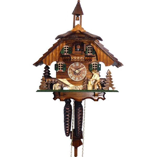 Traditional Driven Wood Cuckoo Clock by Loon Peak