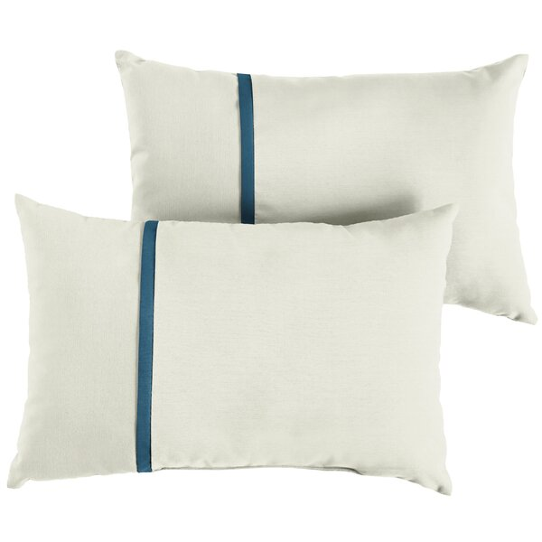 Forgey Indoor/Outdoor Sunbrella Lumbar Pillow (Set of 2) by Charlton Home