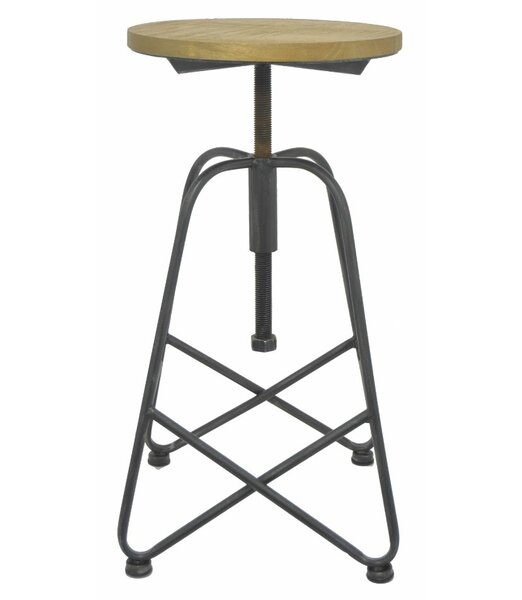 Adjustable Height Swivel Bar Stool by Three Hands