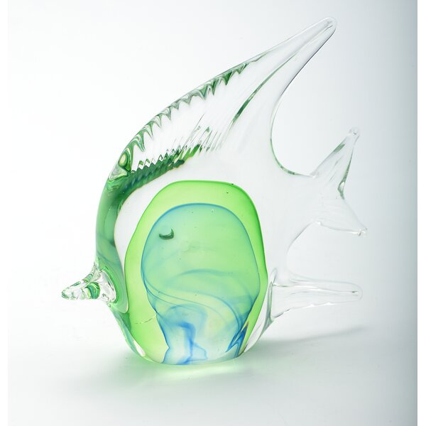 Glass Fish Figurine by Diamond Star Glass