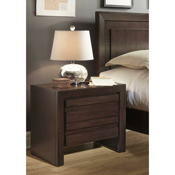 Hermann Wooden 2 Drawer Nightstand by Millwood Pines