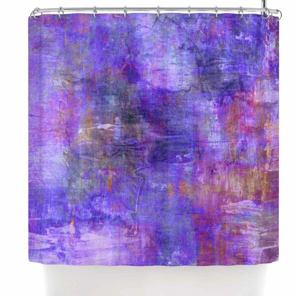 Ebi Emporium Purple Fog Shower Curtain by East Urban Home