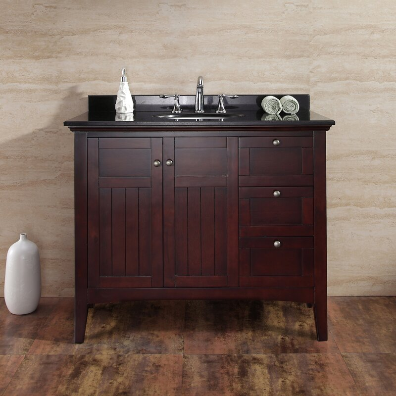 "ove decors gavin 42"" single bathroom vanity set & reviews | wayfair"