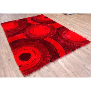 Compare Hand-Tufted Red Area Rug By Rug Factory Plus