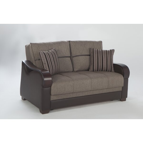 Latest Style Florio Genuine Leather Loveseat by Ebern Designs by Ebern Designs