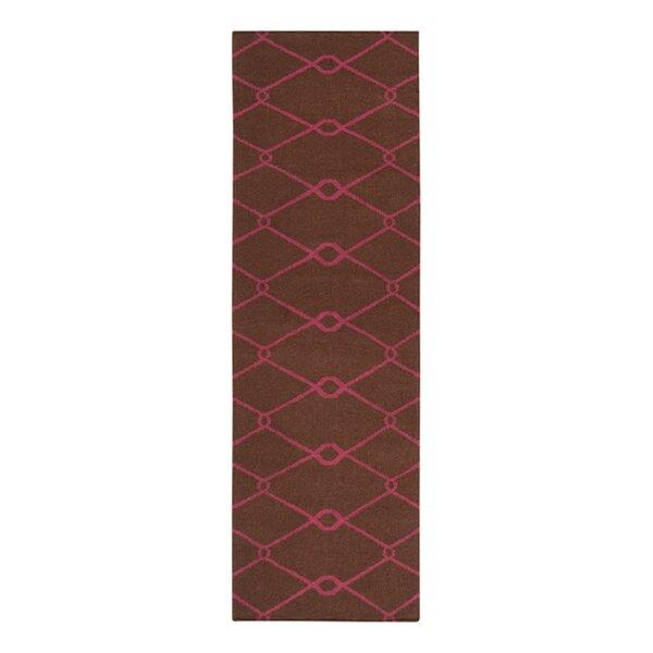 Fallon Hand-Woven Dark Chocolate Area Rug by Jill Rosenwald Home