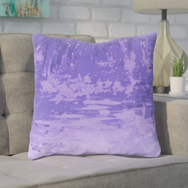 Eley Watercolor Cotton Throw Pillow by Brayden Studio