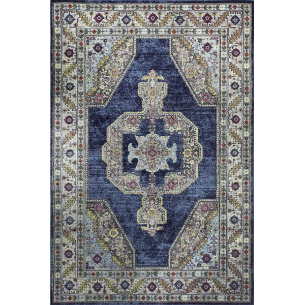 Fidela Azure Area Rug by Bungalow Rose