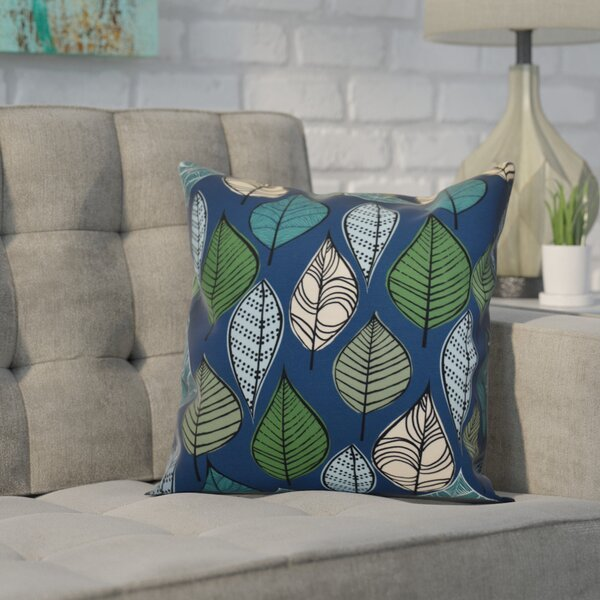 Avalos Leaves Floral Throw Pillow by Ivy Bronx