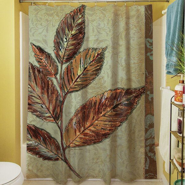 Golden Leaf I Shower Curtain by Manual Woodworkers & Weavers