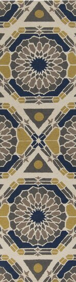 Alicia Bone/Iron Ore Rug by Winston Porter