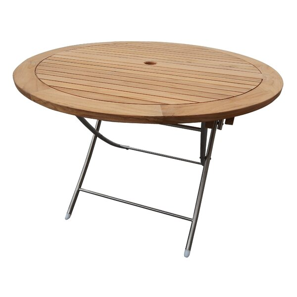 Sorrel Folding Teak Dining Table by Rosecliff Heights