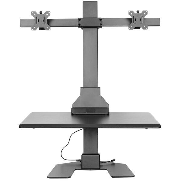 Electric Double Monitor Riser 20 Standing Desk Converter by VonHaus