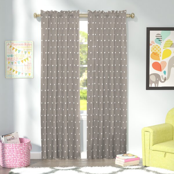 Dara Wildlife Blackout Thermal Rod Pocket Single Curtain Panel by Viv + Rae
